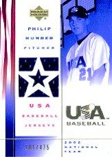 2002 USA Baseball National Team Jerseys #PH Philip Humber