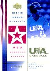 2002 USA Baseball National Team Jerseys #RW Rickie Weeks