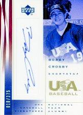 2002 USA Baseball National Team Signatures #BC Bobby Crosby