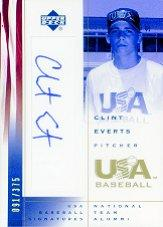 2002 USA Baseball National Team Signatures #CE Clint Everts