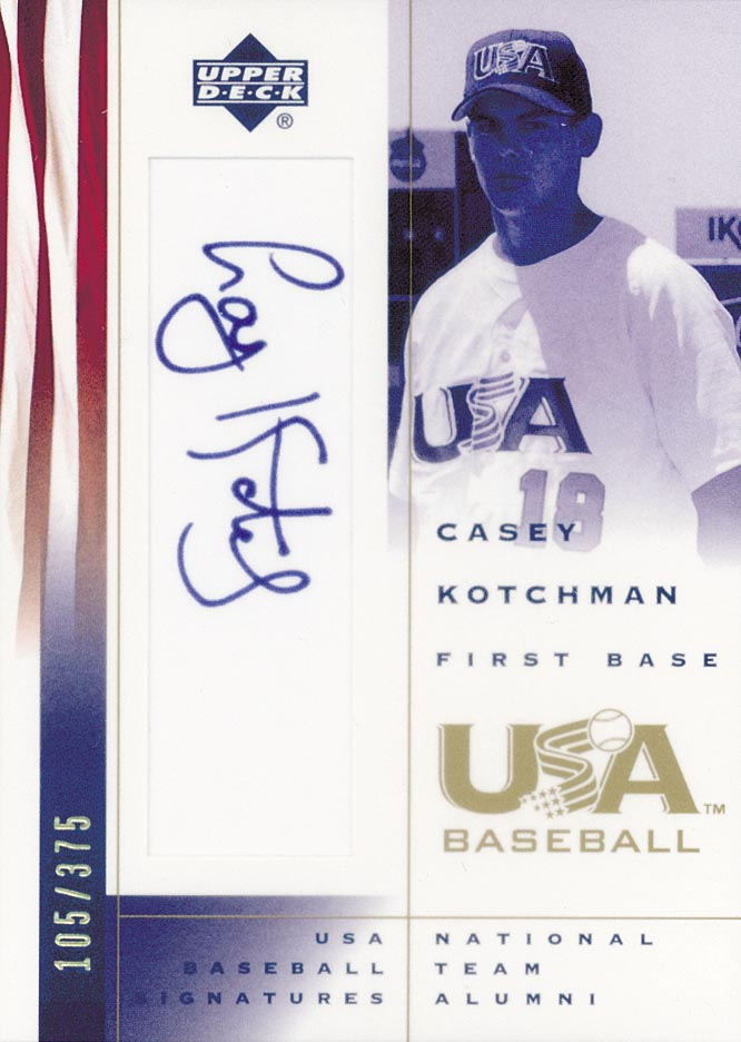 2002 USA Baseball National Team Signatures #CK Casey Kotchman