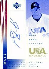 2002 USA Baseball National Team Signatures #JB Josh Bard