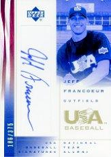 2002 USA Baseball National Team Signatures #JF Jeff Francoeur