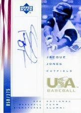 2002 USA Baseball National Team Signatures #JJ Jacque Jones