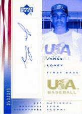 2002 USA Baseball National Team Signatures #JL James Loney