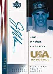2002 USA Baseball National Team Signatures #JM Joe Mauer