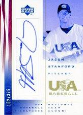 2002 USA Baseball National Team Signatures #JS Jason Stanford