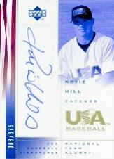 2002 USA Baseball National Team Signatures #KH Koyie Hill