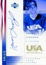 2002 USA Baseball National Team Signatures #LD Lenny Dinardo
