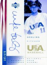 2002 USA Baseball National Team Signatures #MG Mike Gosling