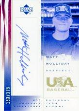 2002 USA Baseball National Team Signatures #MH Matt Holliday