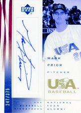 2002 USA Baseball National Team Signatures #MP Mark Prior