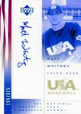 2002 USA Baseball National Team Signatures #MW Matt Whitney