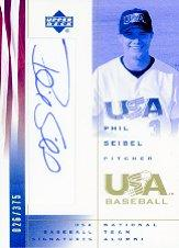 2002 USA Baseball National Team Signatures #PS Phil Seibel