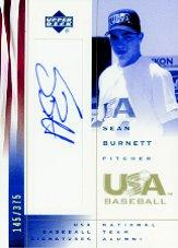 2002 USA Baseball National Team Signatures #SB Sean Burnett
