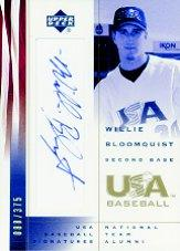 2002 USA Baseball National Team Signatures #WB Willie Bloomquist