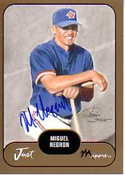2002 Just Prospects Autographs Gold #26 Miguel Negron/300