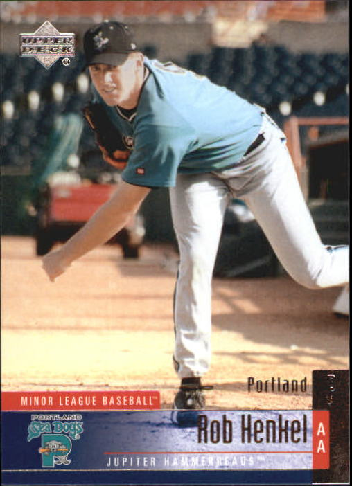 2002 UD Minor League #113 Rob Henkel