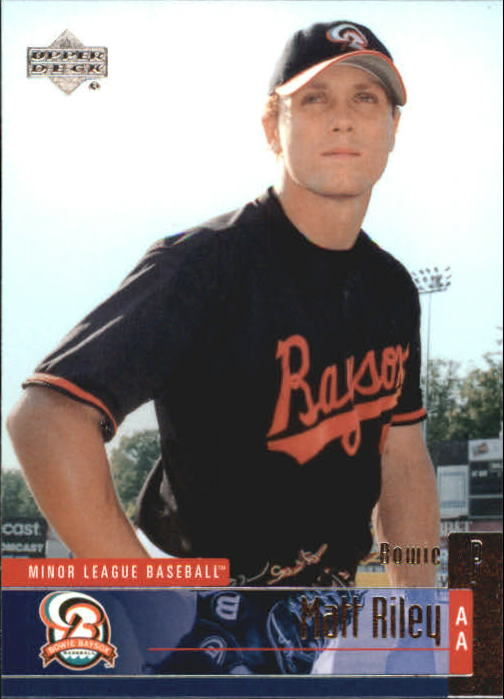 2002 UD Minor League #123 Matt Riley