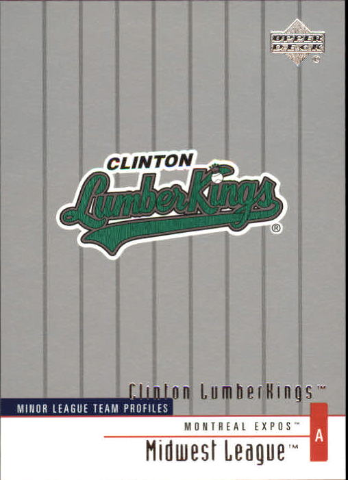 2002 UD Minor League #304 Clinton Lumberkings TM