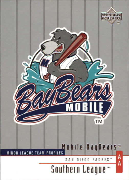 2002 UD Minor League #340 Mobile BayBears TM