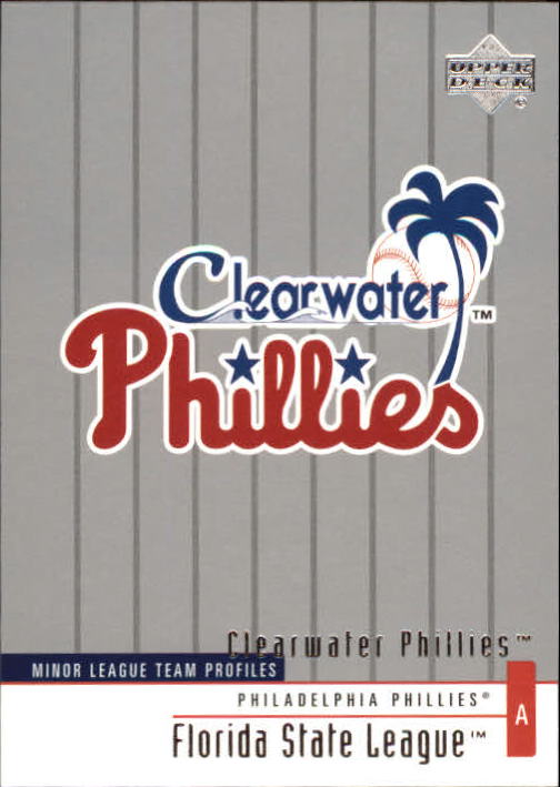 2002 UD Minor League #346 Clearwater Phillies TM