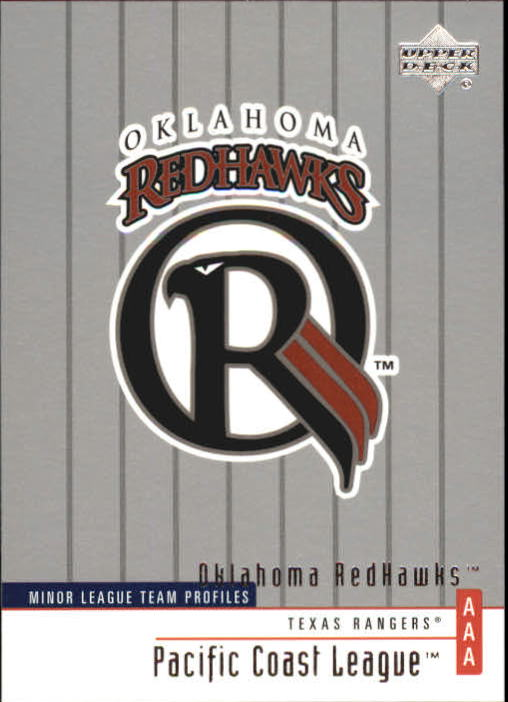 2002 UD Minor League #354 Oklahoma RedHawks TM