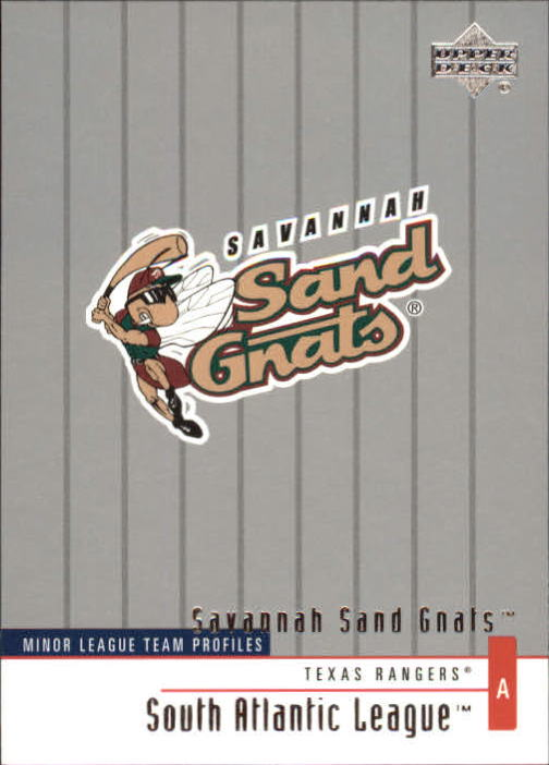 2002 UD Minor League #357 Savannah Sand Gnats TM