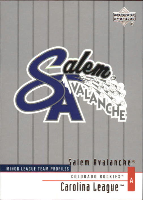 2002 UD Minor League #372 Salem Avalanche TM