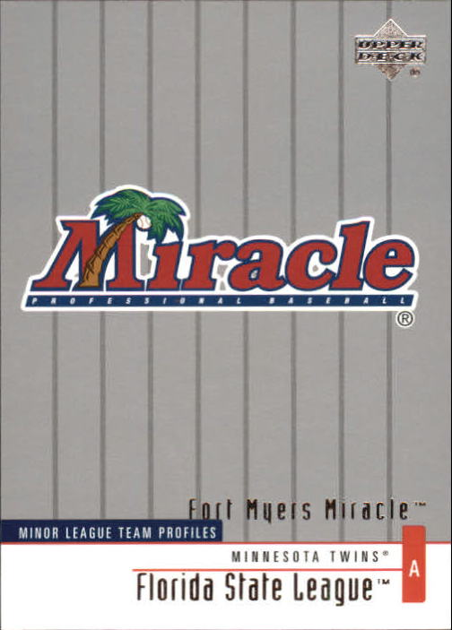 2002 UD Minor League #387 Ft. Myers Miracle TM