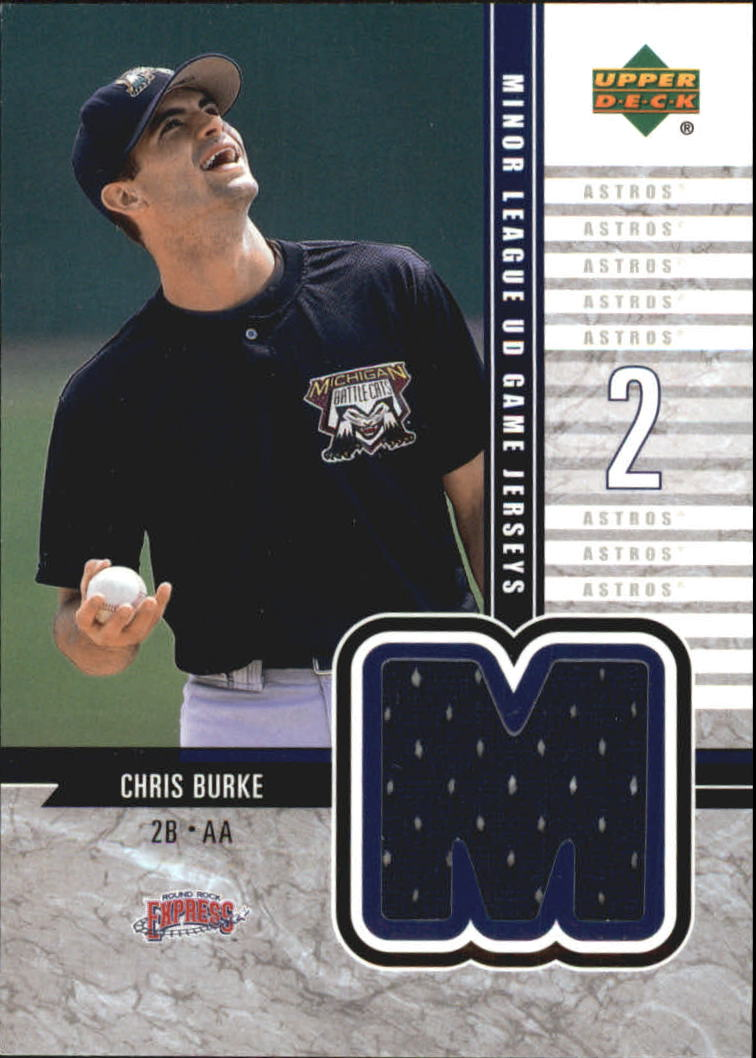 2002 UD Minor League Game Jerseys #JBU Chris Burke
