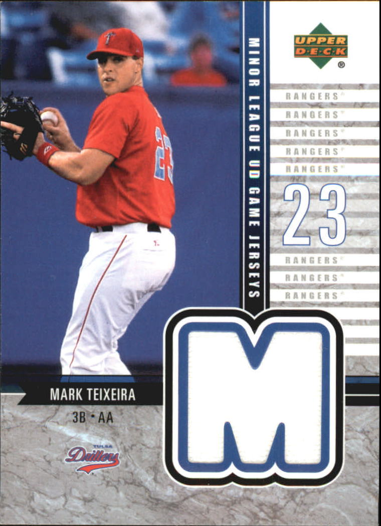 2002 UD Minor League Game Jerseys #JMT Mark Teixeira