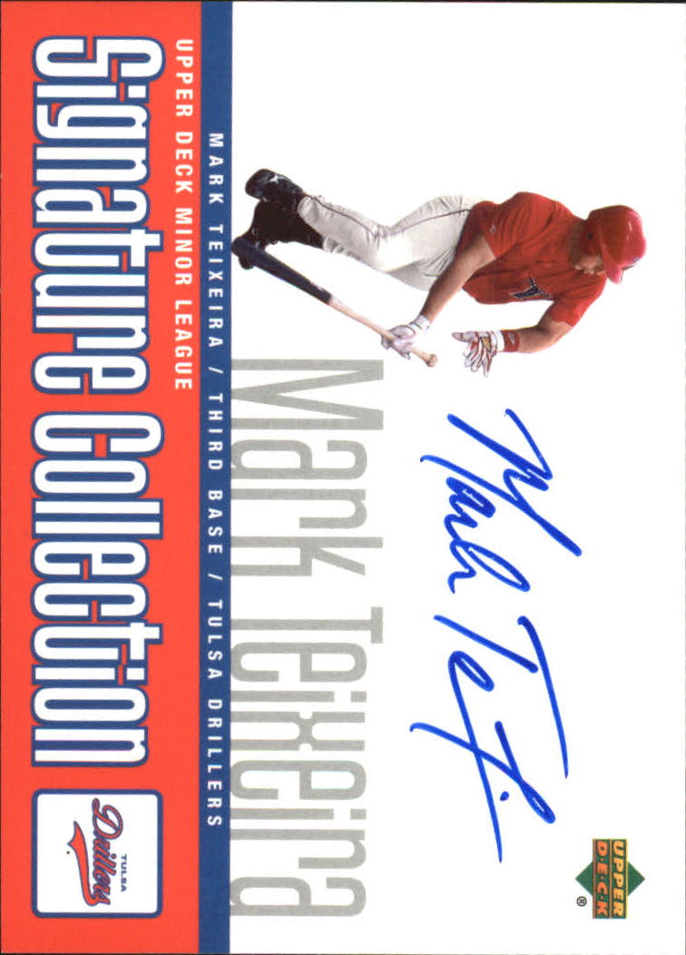 2002 UD Minor League Signature Collection #MT Mark Teixeira