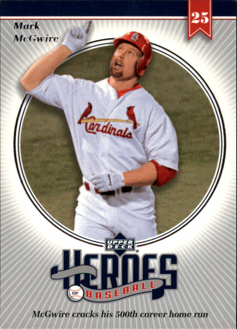 2002 Upper Deck Prospect Premieres Heroes of Baseball #HMC2 Mark McGwire