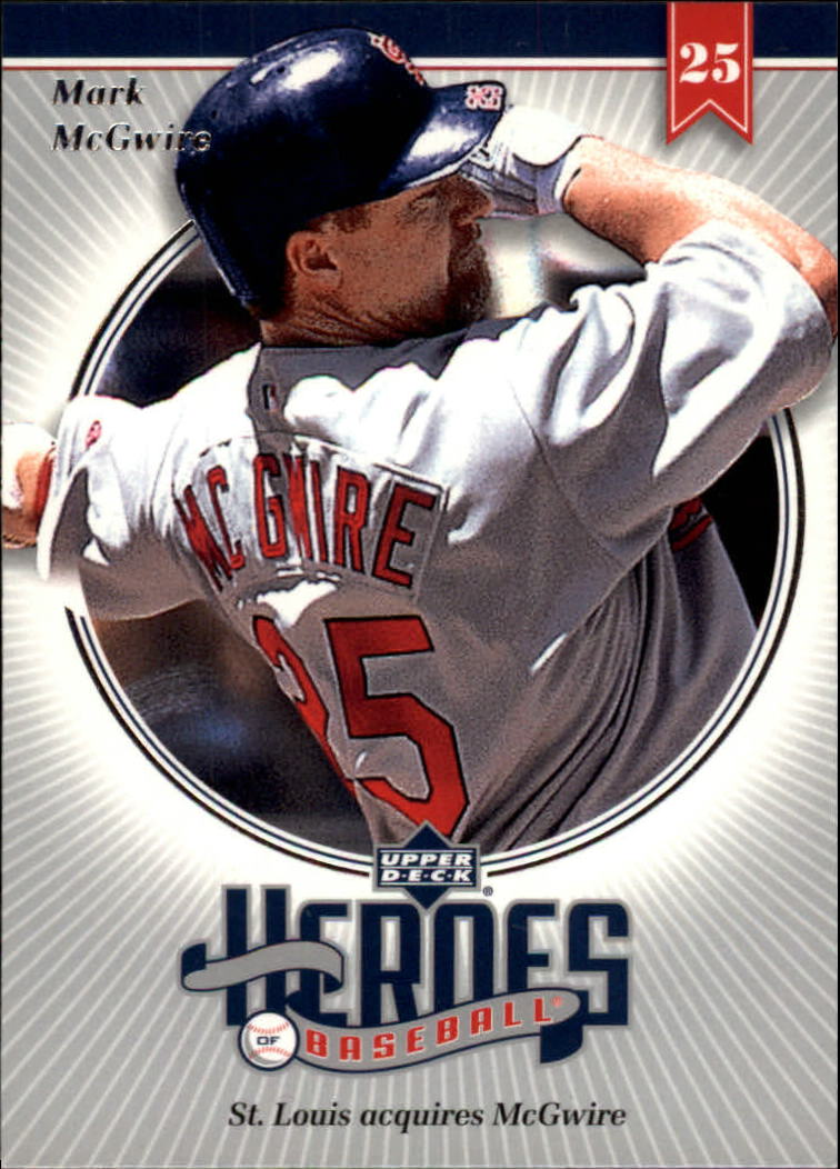 2002 Upper Deck Prospect Premieres Heroes of Baseball #HMC4 Mark McGwire