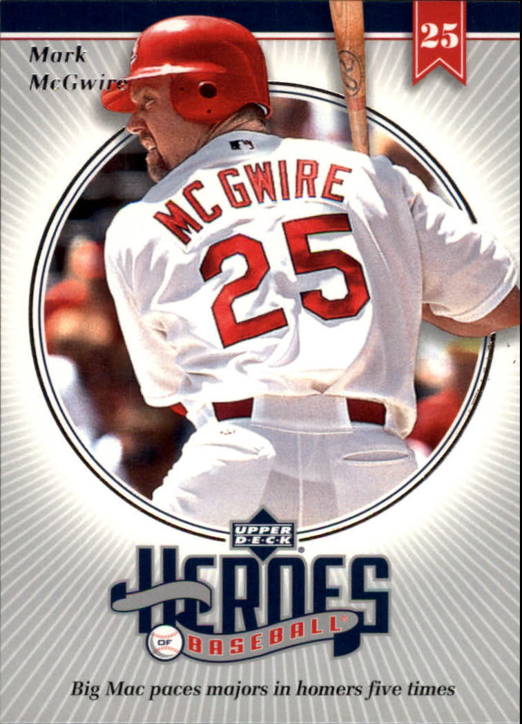 2002 Upper Deck Prospect Premieres Heroes of Baseball #HMC6 Mark McGwire