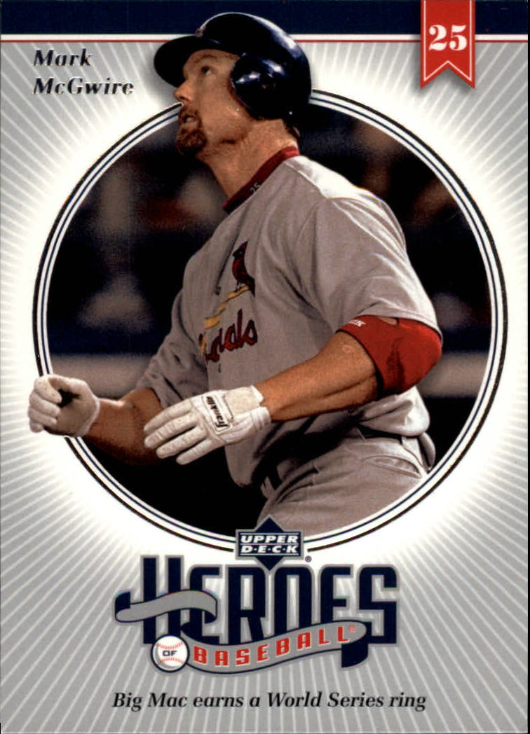 2002 Upper Deck Prospect Premieres Heroes of Baseball #HMC7 Mark McGwire
