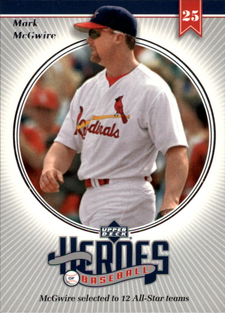2002 Upper Deck Prospect Premieres Heroes of Baseball #HMC8 Mark McGwire