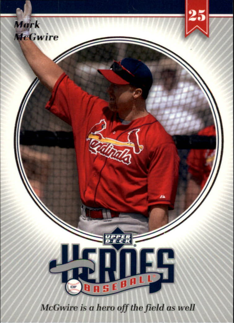 2002 Upper Deck Prospect Premieres Heroes of Baseball #HMC9 Mark McGwire