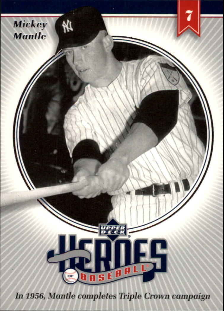 2002 Upper Deck Prospect Premieres Heroes of Baseball #HMM2 Mickey Mantle