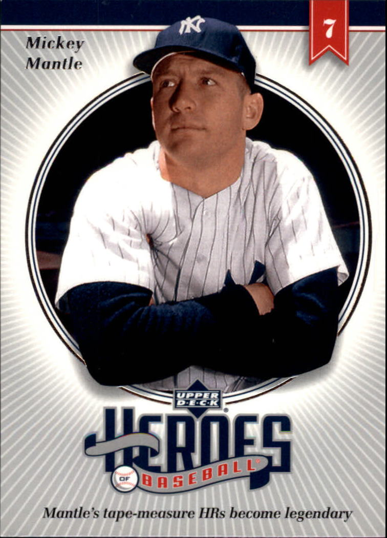 2002 Upper Deck Prospect Premieres Heroes of Baseball #HMM4 Mickey Mantle