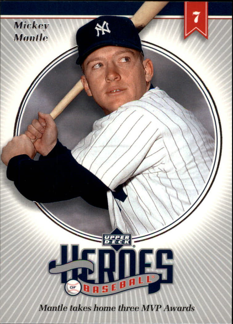 2002 Upper Deck Prospect Premieres Heroes of Baseball #HMM6 Mickey Mantle