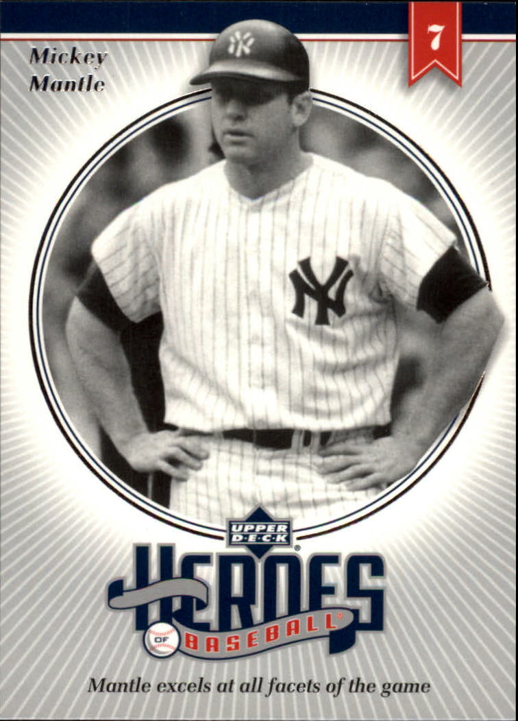 2002 Upper Deck Prospect Premieres Heroes of Baseball #HMM9 Mickey Mantle