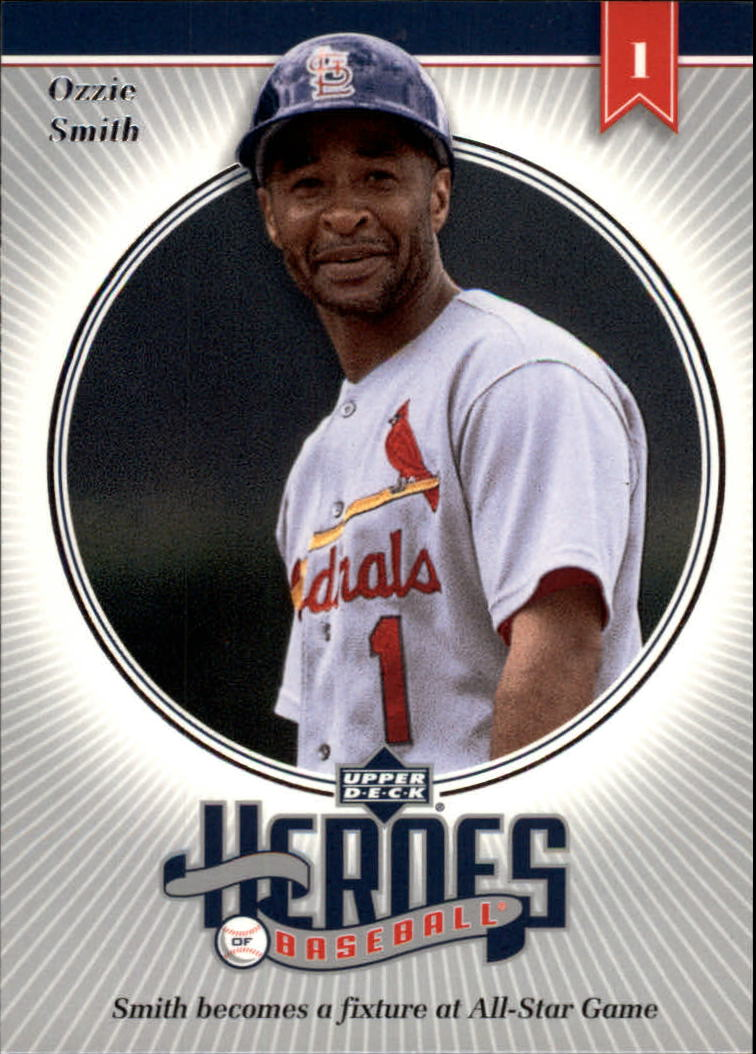 2002 Upper Deck Prospect Premieres Heroes of Baseball #HOS3 Ozzie Smith