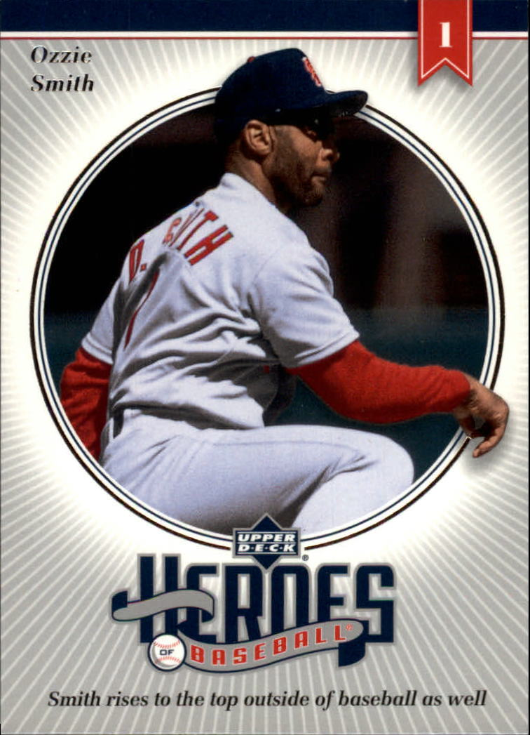 2002 Upper Deck Prospect Premieres Heroes of Baseball #HOS9 Ozzie Smith