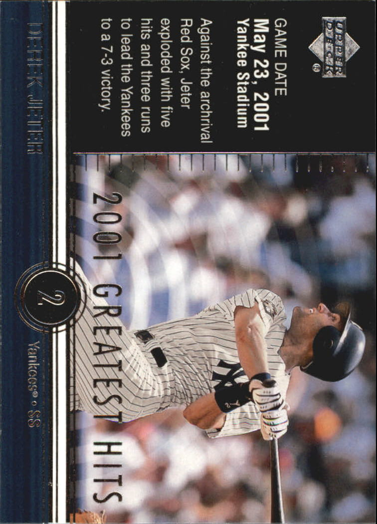 2002 Upper Deck 2001 Greatest Hits #GH10 Derek Jeter