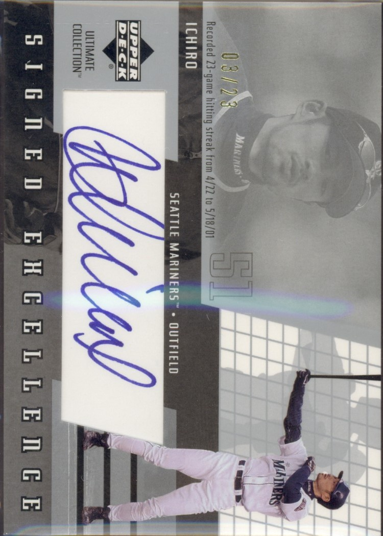 2002 Ultimate Collection Signed Excellence #I3 Ichiro Suzuki/23