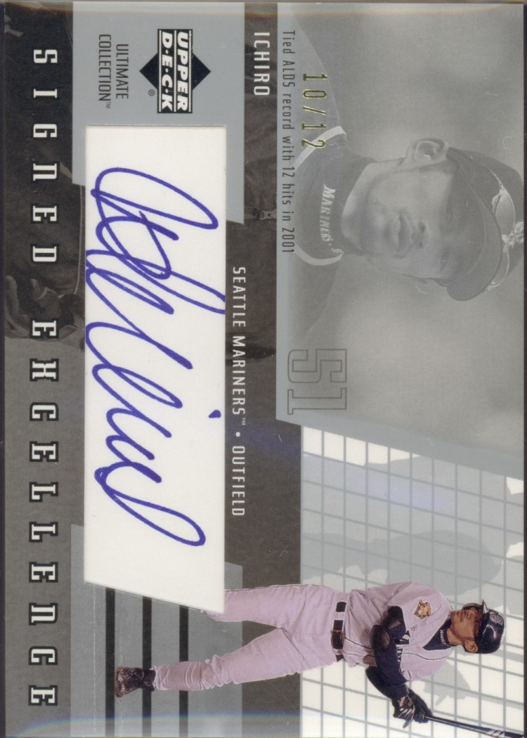 2002 Ultimate Collection Signed Excellence #I4 Ichiro Suzuki/12