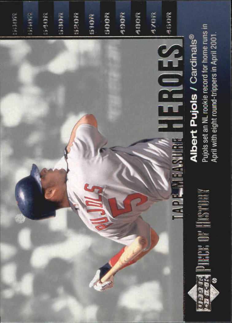 2002 UD Piece of History Tape Measure Heroes #TM19 Albert Pujols