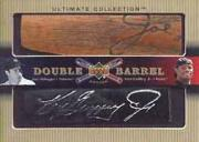 2002 Ultimate Collection Double Barrel Action #DG Joe DiMaggio/Ken Griffey Jr./5